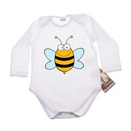 https://funnybunnykids.bg/wp-content/uploads/2017/08/33320.jpg Бебешко боди с щампа на весела пчела.