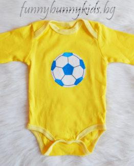 боди с дълъг ръкав за бебе момче в жълт цвят с апликация топка https://funnybunnykids.bg/wp-content/uploads/2017/10/DSCN19hcgvjb97-copy.jpg