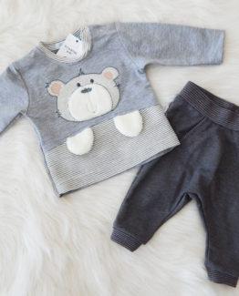 бебешки комплект със сладка апликация на мече https://funnybunnykids.bg/wp-content/uploads/2018/01/бебешки-комплект-със-сладка-физиономия-на-мече.jpg