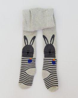 зимен ватиран чорапогащник за бебе сив