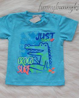 https://funnybunnykids.bg/wp-content/uploads/2018/04/29595297_443495926085050_6010932524725628892_n.jpg тениска бебе момче електриково зелено синьо оранжево