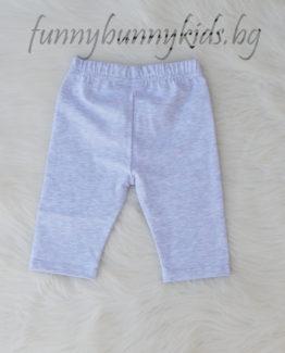 Детски къс клин за момиче в розово (2 - 5 год.) къс клин до коляното за момиче сив copy