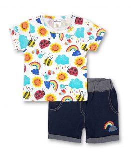 комплек летен комплект за момче дънкови панталони