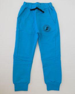 тънък детски панталон анцуг долнище за момче есен пролет син