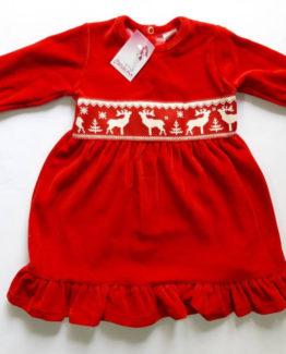 https://funnybunnykids.bg/wp-content/uploads/2018/12/47291583_587836258317682_6357292011787124736_n.jpg детска коледна рокля от червен плюш с декорация на коледни елени