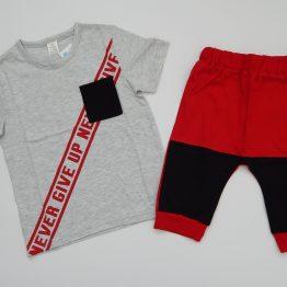 летен комплект за момче тениска къси панталони