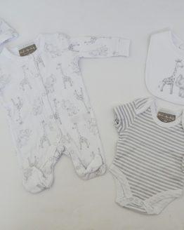 https://funnybunnykids.bg/wp-content/uploads/2019/11/1.jpg бебешки комплект за изписване за бебе момче, бебе момиче за изписване, ромпър гащеризон боди ръкавици лигавник бебе