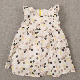 лятна рокля за бебе момиче с десен ан точки