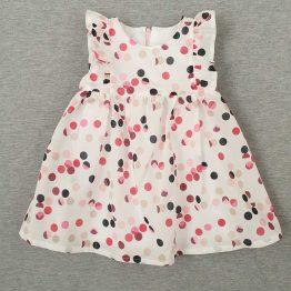 лятна ефирна рокля за бебе момиче на точки