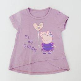 детска тениска в лилав цвят с пепа пиг момиче