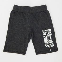 детски къси памучни панталони в сив графитен цвят