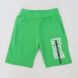 детски къси панталони в зелен цвят за момче