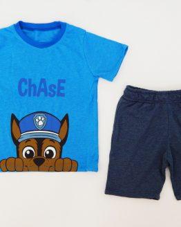 комплект с пес патрул за бебе момче летен комплект Чейс
