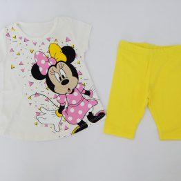 летен детски комплект за момиче с Мини Маус туника и клин