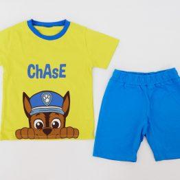летен комплект тениска с къси панталонки за момче с Пес Патрул Чейс