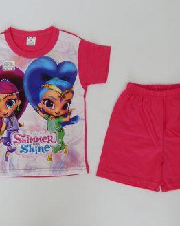 лятна детска пижама за момиче искрица и сияйница