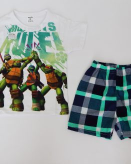 лятна пижама с костенурките нинджа за момче
