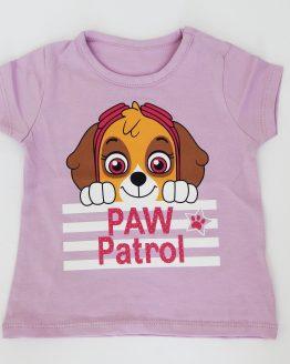 тениска за момиче скай от пес патрул лилава тениска