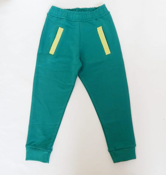 детски анцуг долнище панталон за момче в зелен цвят