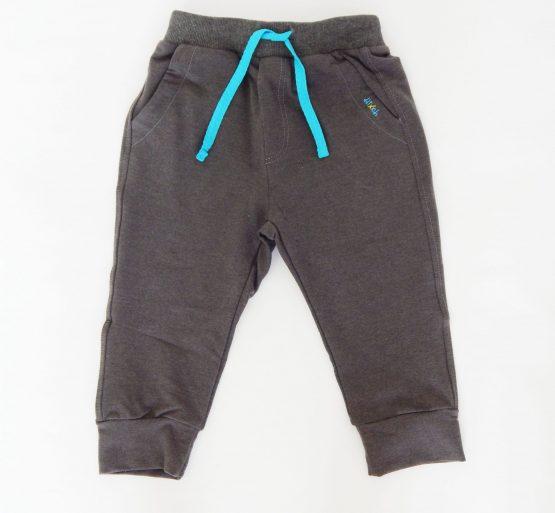 панталон за момче в сив цвят със синя връзка пролетен есенен панталон