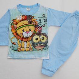 пижама за бебе момче с дълъг ръкав