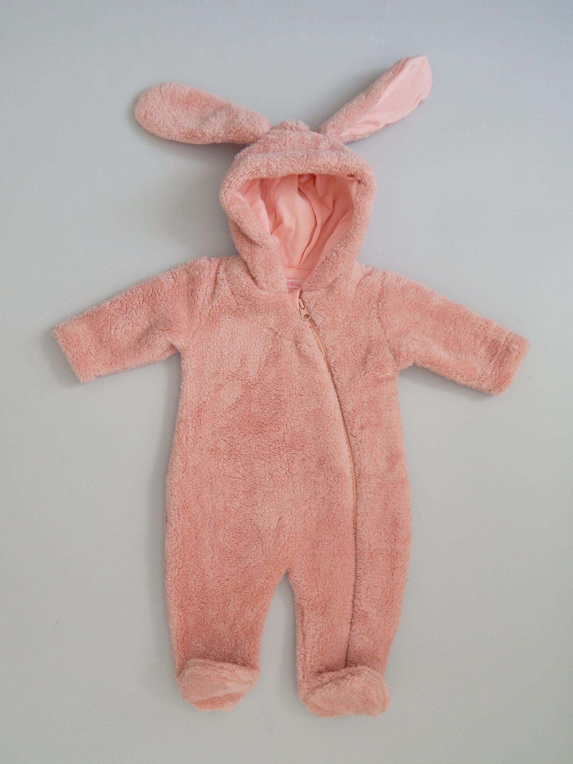 пухен гащеризон пухкав ромпър зайче за бебе момиче