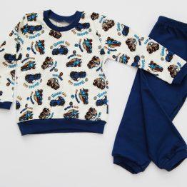 детска пижама за момче пижама за момче плътна пижама за момче