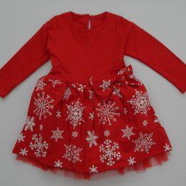 коледна рокля за момиче с тюл и снежинки