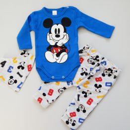 комплект за бебе момче с Мики от три части