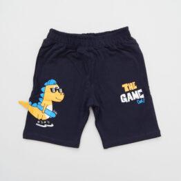 къси панталони за момче с динозавър тъмносини къси панталони момче динозавър