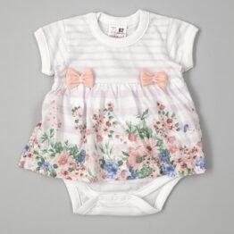бебешко боди рокля за момиче с цветя